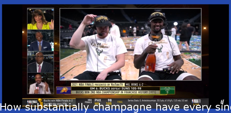 How much champagne have each of you consumed?