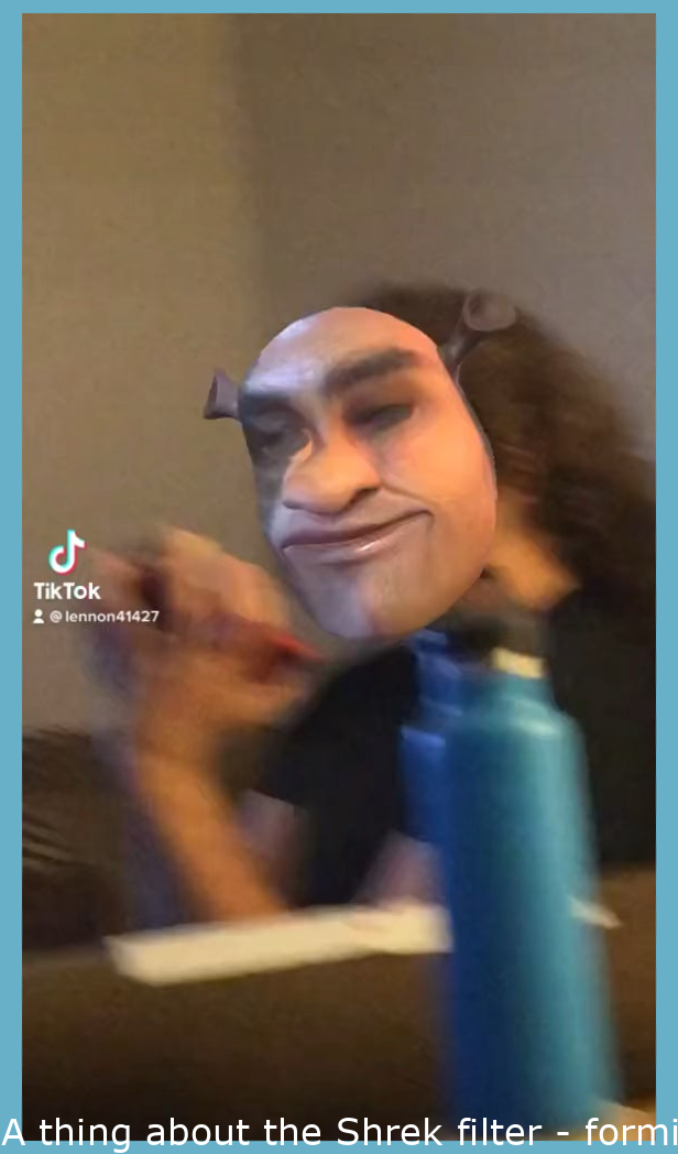 Something about the Shrek filter