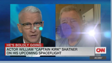 Anderson Cooper cracking up interviewing William Shatner about his trip to space